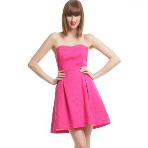 Lilly Pulitzer Pink Bernadette Strapless Dress
